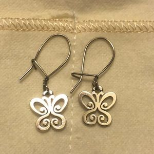 James Avery Spring Butterfly Kidney Wire Earrings.